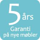 5 �rs garanti p� nye m�bler