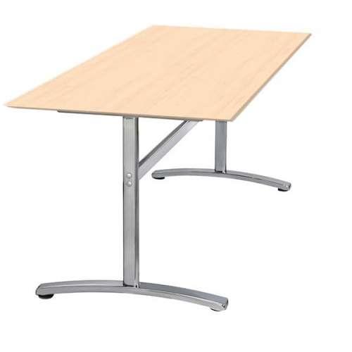 Skrivebord med fast stel Bøg