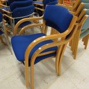 Konferencestol med blåt stof