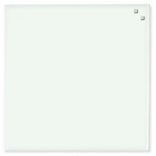 Hvid glassboard 45x45 cm