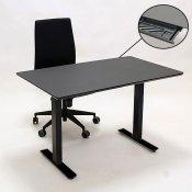Arbejdsstation - 160x80 cm hæve-/sænkebord - Infra kontorstol - Rekvisitskuffe