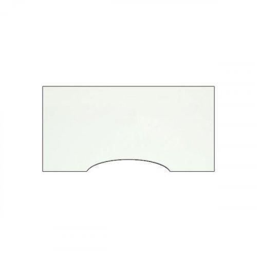 Bordplade med centerbue, hvid laminat 200x100cm