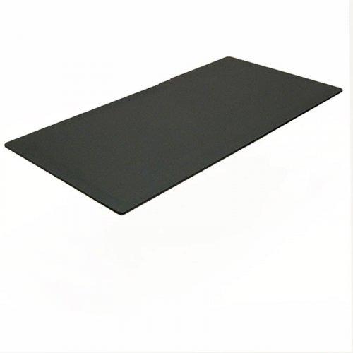 Rektangulær bordplade, sort linoleum 120x80cm