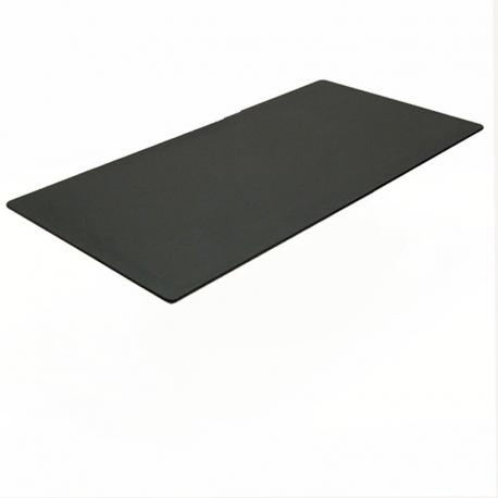 Rektangulær bordplade, sort linoleum 160x80cm