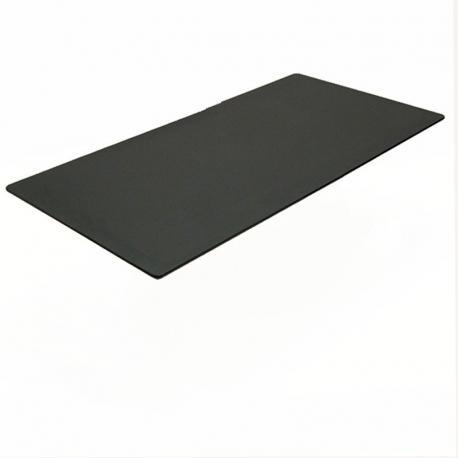 Rektangulær bordplade, sort linoleum 200x100cm