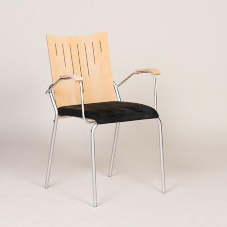 Phoenix konferencestol med sort alcantara sæde