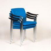 Konferencestol med blå polster