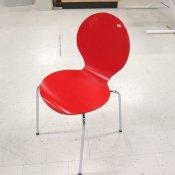 Rød skalstol