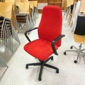 Dauphin kontorstol med rød polstring