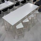 Corian højbord i hvid