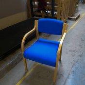 Konferencestol blå polstring