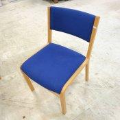 Konferencestol med blå polstring