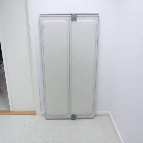 Bordhængt skillevæg - Hvid - 140x70