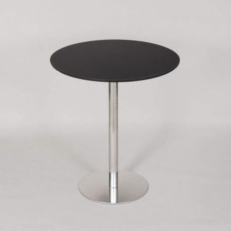 JK cafebord - 110cm høj - Sort plade med krom stel