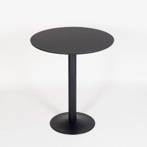 JK cafebord - 110cm høj - Sort plade med sort stel