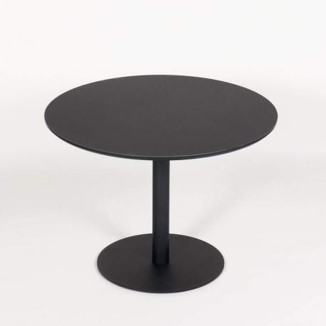 jk konferencebord - Ø: 100cm - Sort linoleum
