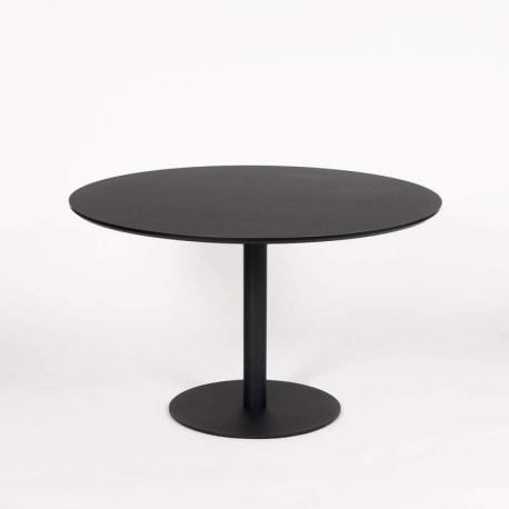 jk konferencebord - Ø: 120cm - Sort linoleum