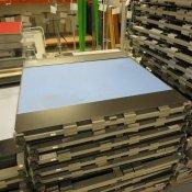 Kinnarps skillevæg - Blå - 100x110