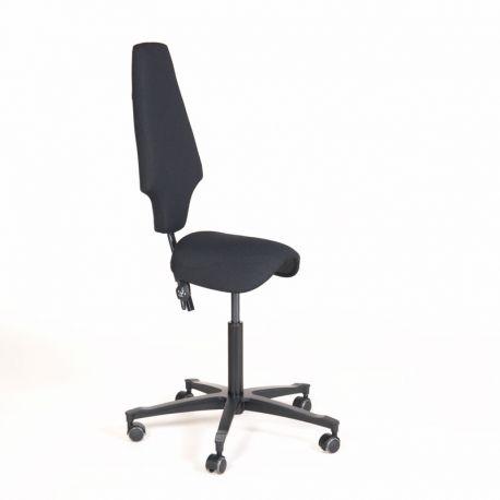 Activa sadelstol med høj ryg - kontorstol