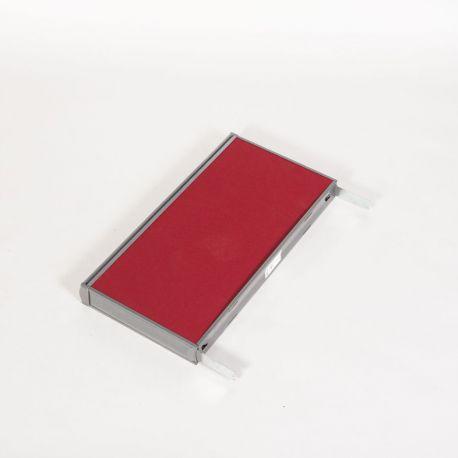 Top til skillevæg - Rød