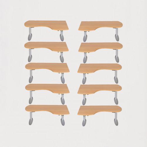 10 x Duba hæve-/sænkeborde