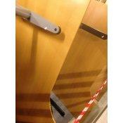 Venstrevendt Hæve-/sænkebord i bøg - 205x110