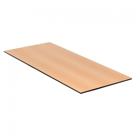 Kantinebordplade 180x80 cm. Bøg m/ sort kant