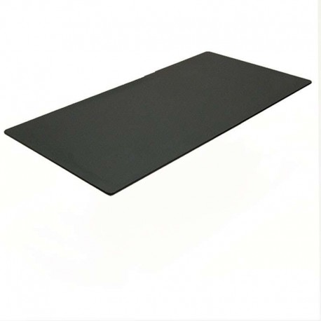 Kantinebordplade sort linoleum, 180x80 cm