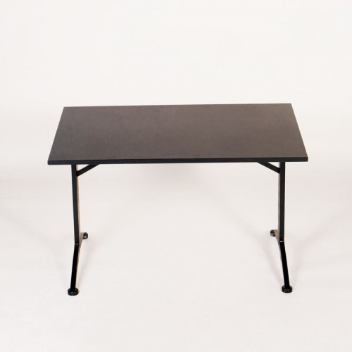Mødebord - Sort - Rektangulær - 120x80