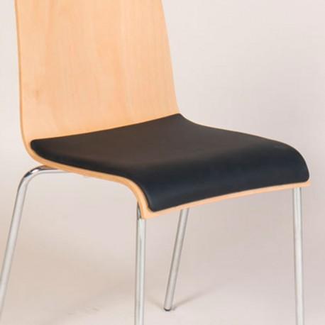 Løst sæde til Agger stole med læder polstring