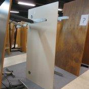 Hæve-/sænkebord - Rektangulær - Lys grå - 180x90