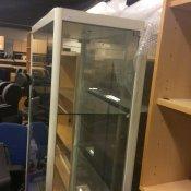 Glasskab -Hvid/glas - 177x78
