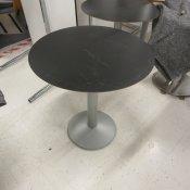 Dencon cafébord - Sort - Ø: 70cm - H: 73cm