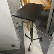 Rullebord med pumpe - Sort