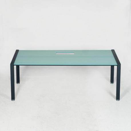 Konferencebord med glasbordplade - 200x90 cm