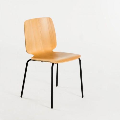 EDGE stol - Bøge finér - Sort stel