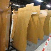 Hæve-/sænkebord - Ahorn - Centerbue - 200x90