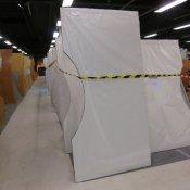 Hæve-/sænkebord - Hvid - Centerbue - 200x100