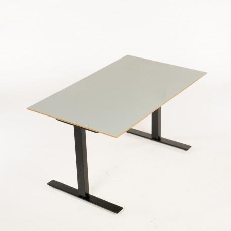 Loke hæve-/sænkebord - grå - 130x80 cm