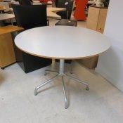 Cafébord med hvid plade - Ø: 100 cm