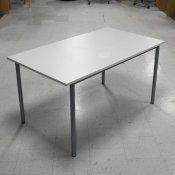 DEMO jk Kantinebord - Hvid bordplade med gråt stel - 140x80