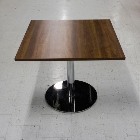 Cafébord valnød - Firkantet - 90x90
