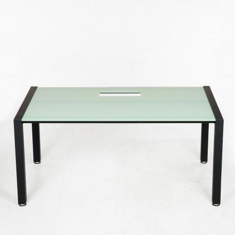 Holmris konferencebord - Glasbordplade - 160x