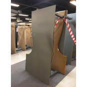 Hævesænkebord med grå linoleumsplade