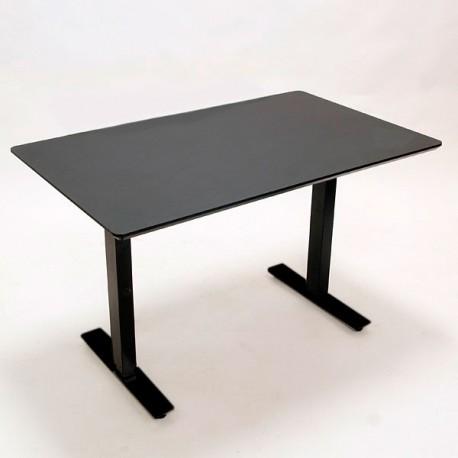 Demo Loke hæve-/sænkebord - sort linoleum - 120x80 cm