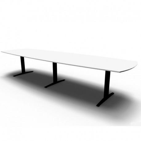 Jive bådformet konferencebord m/ 2-delt plade