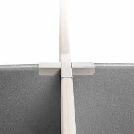 Sammenkoblingsbeslag til 4 stk. alma skillevæg - Silver