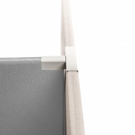 Sammenkoblingsbeslag til 3 stk. skillevæge - Silver