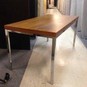 Konferencebord - Valnød med krom stel 150x75