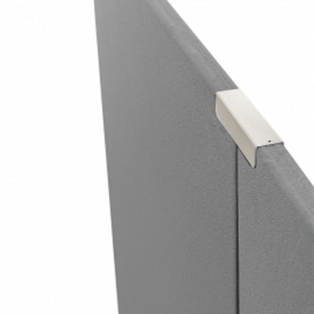 Sammenkoblingsbeslag til 2 stk Alma skillevægge - Silver - LB 6500024